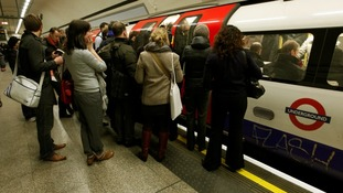 Commuters on the tube