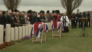 Fallen WWI soldiers buried after nearly a century