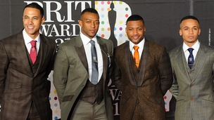 Marvin Humes, Oritse Williams, Jonathan &quot; JB&quot; Gill and Aston Merrygold of JLS