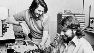 Steve Jobs (left) and Steve Wozniak