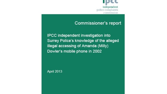 The report from the IPCC