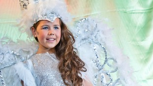 Tia Woodall dressed as a snow queen