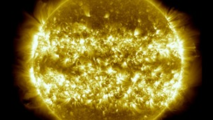 Part of NASA&#x27;s three year time-lapse of the sun