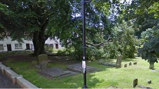 St Mary's graveyard in Aylesbury.