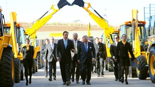 The Prime Minister visits a new factory for British digger manufacturer JCB in Brazil