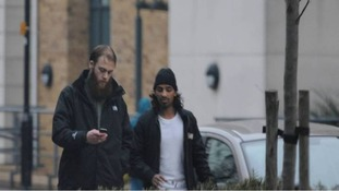 Surveillance image of Richard Dart and Imran Mahmood.