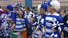 Reading FC fans in wigs