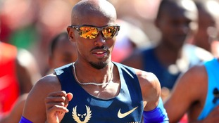 Mo Farah, pictured during the London Marathon, will run at Gateshead in June.