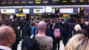 The scene at London Victoria this morning