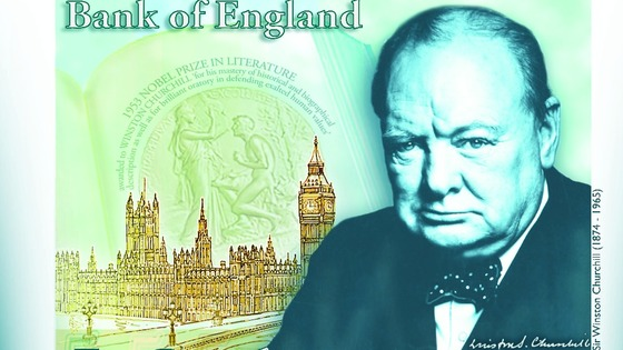 The note is expected to feature a portrait of Winston Churchill from a photograph taken in Ottawa by Yousuf Karsh in 1941.