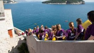 Children from Fullbrook Middle School on their day trip to Dubrovnik