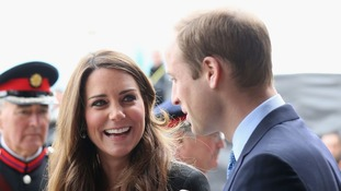 The Duke and Duchess of Cambridge arrive for their visit to Warner Bros studios in Leavesden
