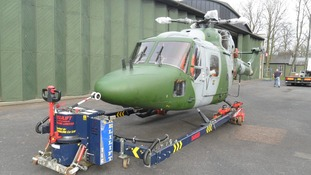 The Westland Lynx mark 7 helicopter