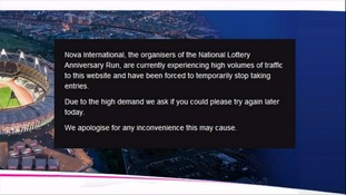 The National Lottery Anniversary Run website