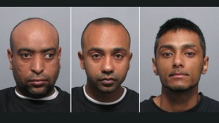 The three men sentenced for abducting a 13 year old girl