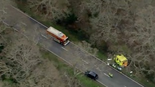 Scene of A337 crash