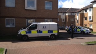 Forensic teams at the scene of the stabbing