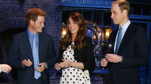 The Duchess of Cambridge looks impressed with the new wands.