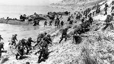 British troops training for D-Day at Slapton Sands, Devon in 1944