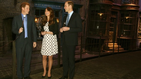 royals at Warner Bros studios