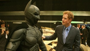 Prince Harry discovers a 'Batsuit' which was use in the Batman films.