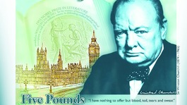 Sir Winston Churchill to appear on new £5 note.