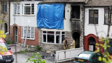 The home of Melissa Crook which was subject to arson attack