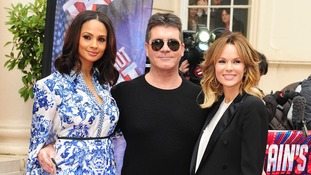 BGT judges Alesha Dixon, Simon Cowell and Amanda Holden.