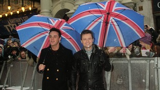 Double act Ant and Dec pictured at the  Britain's Got Talent 2013 Judges Auditions Tour in January.