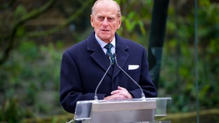 The Duke of Edinburgh pictured during a speech at London Zoo in March.