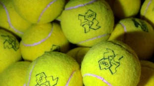 Tennis balls used during the Olympic tournament at Wimbledon are up for sale.