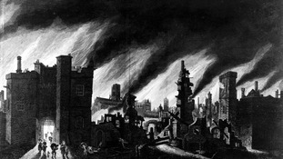 An illustration of the Great Fire of London