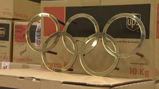 Olympic rings up for sale