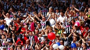 West Brom fans celebrate escaping promotion on the final day in 2005