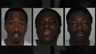From left to right: Nathaniel Grant, Kazeem Kolawole and Anthony McCalla.