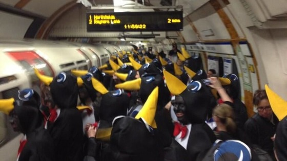 Penguins on the London Underground