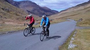 Cyclists in west Cumbria