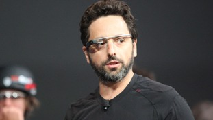Google founder Sergey Brin with Google Glass