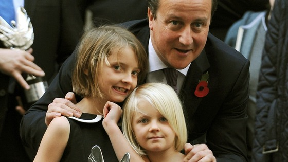 Ramona (left) and Trixie met David Cameron after the Pride of Britain awards