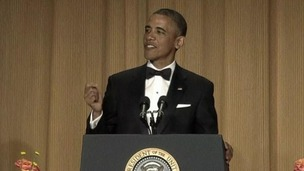 President Barack Obama sporting a fringe