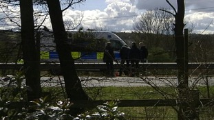 The M9 motorway was closed for several hours after the teenager's body was found