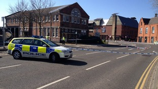 Police cordon in Riverside Road, Norwich
