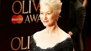 Dame Helen Mirren arrives at the event.