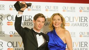 Best Actor winner Luke Treadaway with Sex and the City star Kim Cattrall.
