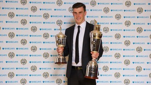 Winner of the PFA Player of the Year and Young Player of the Year Gareth Bale