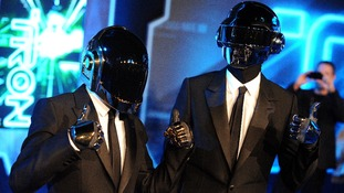 Musicians Thomas Bangalter and Guy-Manuel De Homem-Christo of Daft Punk