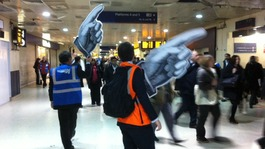 The 'giant hands' of New Street's 60 volunteers directs passengers