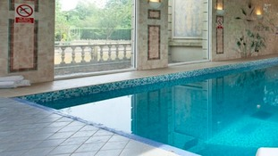 The pool at Down Hall Country House Hotel