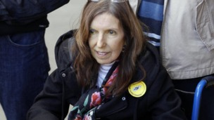 Anne Williams pictured during her last public appearance at the Hillsborough memorial service on the Monday before she died