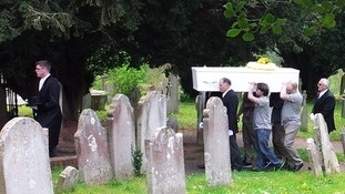 Funeral of 17-year-old Rosie Benellick and her 3-year-old brother Harvey.
